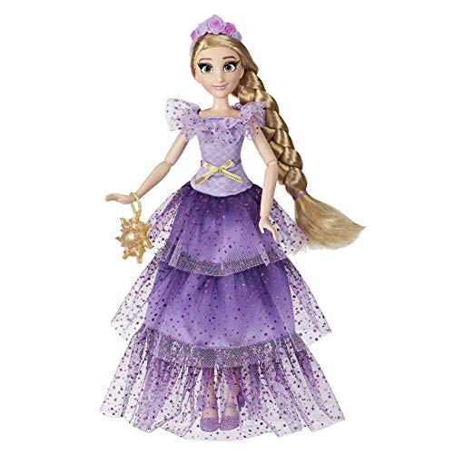 Disney Princess Style Series Rapunzel Fashion Doll, Contemporary Style Dress with Headband, Purse, and Shoes, Toy for Girls 6 and Up