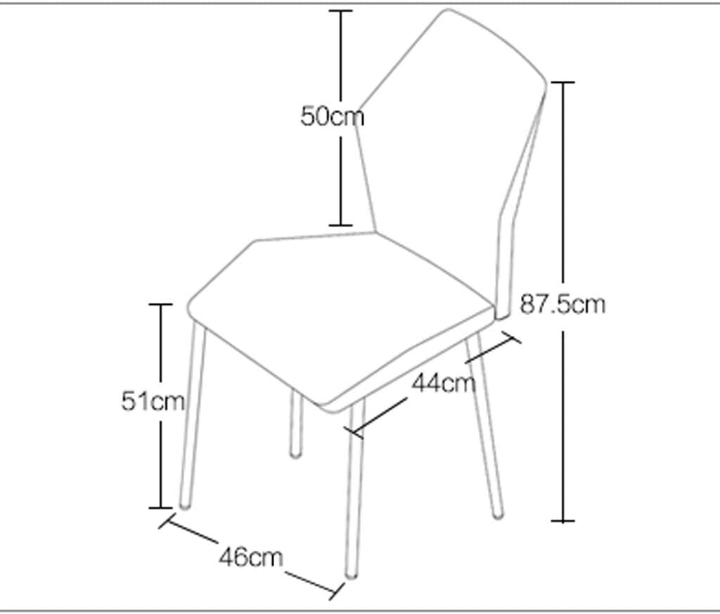 WDX- Chaise de Salle, Chaise de Bureau Simple, créative Dossier, Chaise Loisirs, Maison Adulte Chaise de Salle Confortable (Color : White) White
