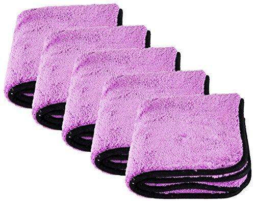 Liquid Elements 5X Purple Monster Mikrofasertuch Microfaser 1800 GSM 40 x 40 cm