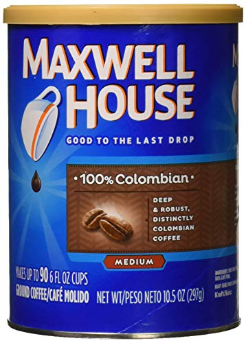 Maxwell House 100 Percent Colombian Coffee, 10.5 Ounce - 6 per case.