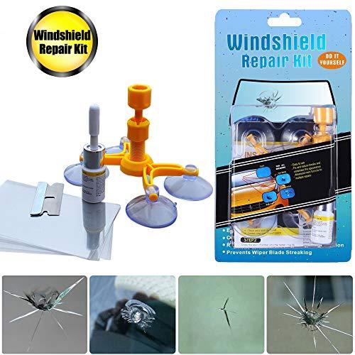Manelord Auto Windshield Repair Kit, Windschutzscheiben Reparaturset Werkzeug für PKW Chip und Crack