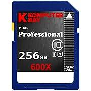 Komputerbay Professionelle 256 GB High Speed SDXC Class 10 UHS-I, U3 600X-Flash-Karte