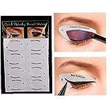 4 Hoja De Sombra De Ojos Profesional Shield Eyeliner Plantillas Ojos Ahumados O Almohadillas De Maquillaje con Alas Punta Desechable Mirada del Ojo