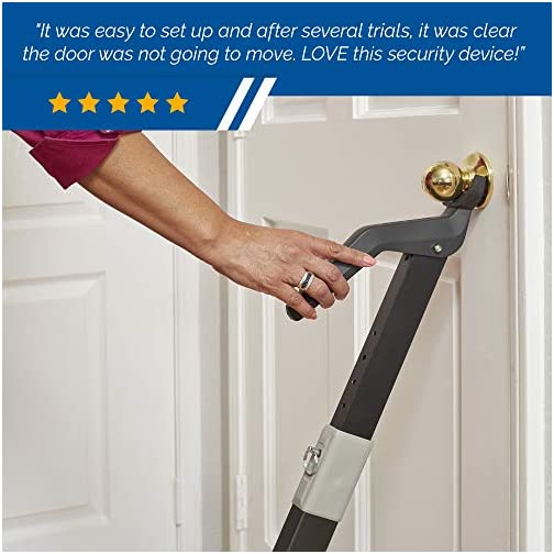 Heavy Duty Security Door Bar | Fully Adjustable, Universal Door Stopper Device for Home Defense | Perfect for… 5