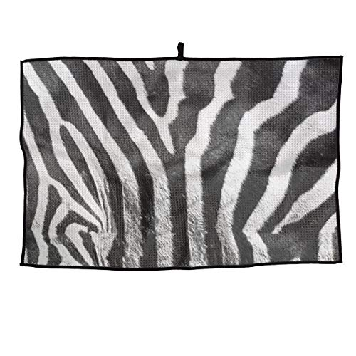 Best Review Of JJCSTE.C Microfiber Golf Towel Natural Zebra Skin Sports Gym Towel for Golf, Yoga, Sp...