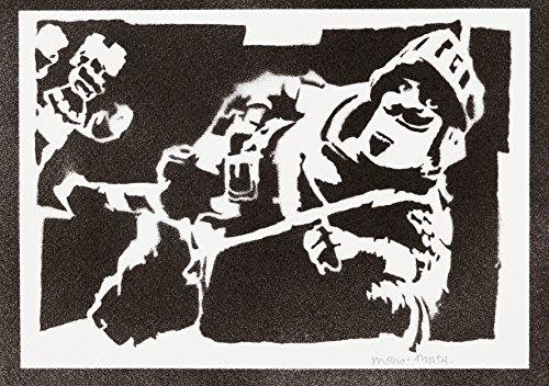Poster Clash Royale Príncipe Grafiti Hecho a Mano - Handmade Street Art - Artwork
