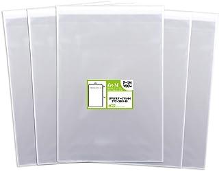 【国産】テープ付 B4【 B4用紙・ポスター用 / 角1封筒 】透明OPP袋(透明封筒)【500枚】30ミクロン厚(標準)270x380+40mm