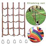 knowledgi Red de Escalada para Niños -145X185 cm Red de Juegos De Juegos Al Aire Libre para Niños, Gimnasios En La Jungla, Mejorar Agilidad Velocidad Coordinación