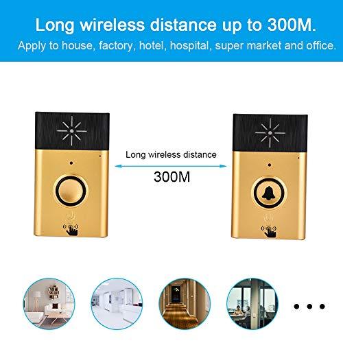 Hakeeta WiFi draadloze deurbel met Dual Way Voice Interphone-systeem, intelligente deurbel inclusief binnenbel en buitenbel met een bereik van meer dan 300 m