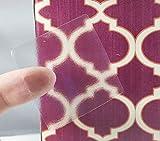 Claras Etiquetas Cuadradas, 38 mm 1,5 Pulgadas Pegatinas de Sellos Transparentes 500 Paquete
