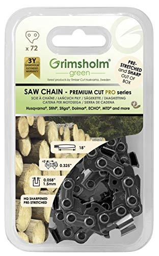 """Grimsholm Green® - Sägekette Pro 72 DL.325"""" .058""""/1.5mm"""