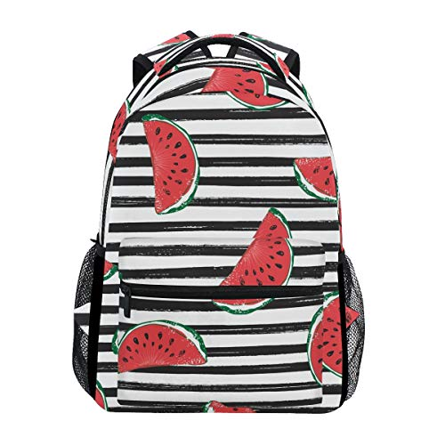 ALAZA Watermelon Black Stripes Stylish Large Backpack Personalized Laptop iPad Tablet Travel School Bag with Multiple Pockets for Men Women College