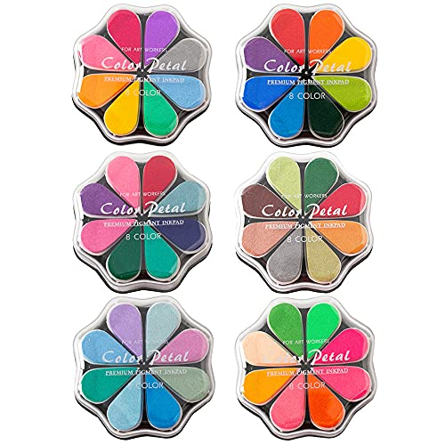 48 Colors Craft Ink Pads, 6 Packs W…