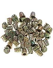 50 Unids Tipo de Tuercas Roscadas Cabeza de Accionamiento Hexagonal M5 * 10mm Alambre de Aleación de Zinc Tornillo Hexagonal Tornillo Para Kit de Surtido de Insertos de Madera