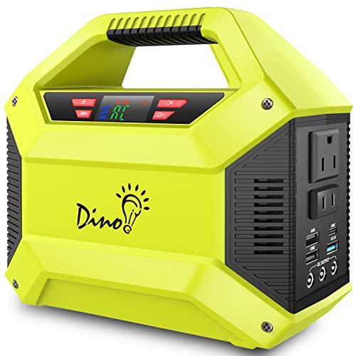 ポータブル電源 大容量 ?DinoFire ポータブルバッテリー42000mAh/155WH 家庭用蓄電池 無停電電源装置 小型発電機 PSE認証済み 三つの充電方法 AC(100W 瞬間最大150W) USB出力 急速充電QC3.0 家庭用バッテリー 携