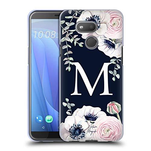 Head Case Designs Offizielle Nature Magick Buchstabe M Monogramm Blumig Navy Blumen 1 Soft Gel Huelle kompatibel mit HTC Desire 12s (2018)