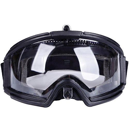 AQzxdc Gafas De Airsoft para Exteriores, Gafas De Seguridad Tácticas, Protección contra Rayos Ultravioleta, Gafas De Resistencia A Los Impactos para Disparos De Paintball, Caza, Ciclismo,Negro