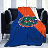 Florida Gators University Flannel Blanket Super Soft Cozy Luxury Couch Home Decor Warm Anti-Pilling Fleece Throw Blanket for Couch Bed Sofa 60'X50'