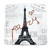 Paris Kissenbezug Kissenhülle mit Eifelturm Motiv 40x40 cm