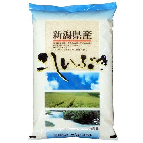 【精米】新潟県産 無洗米(袋再利用) 白米 北陸 越後の米 こしいぶき 5kg(長期保存包装)x1袋 令和元年産