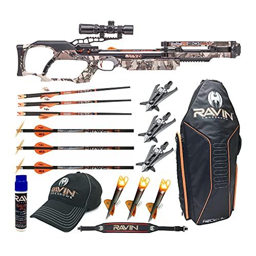 Ravin Crossbows R20 430 FPS Crossbow (Predator Camo) Enthusiast Bundle (8 Items)