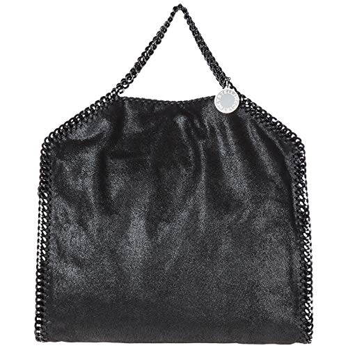 Stella McCartney borsa a mano falabella fold over donna nero