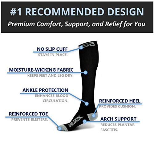 SB SOX Compression Socks (20-30mmHg) for Men & Women