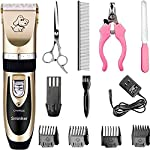 Sminiker Professional Rechargeable Cordless Dogs and Cats Grooming Clippers
