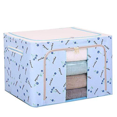Caja de almacenamiento de tela Oxford con marco de acero para ropa, sábanas, mantas, almohadas, zapatero organizador