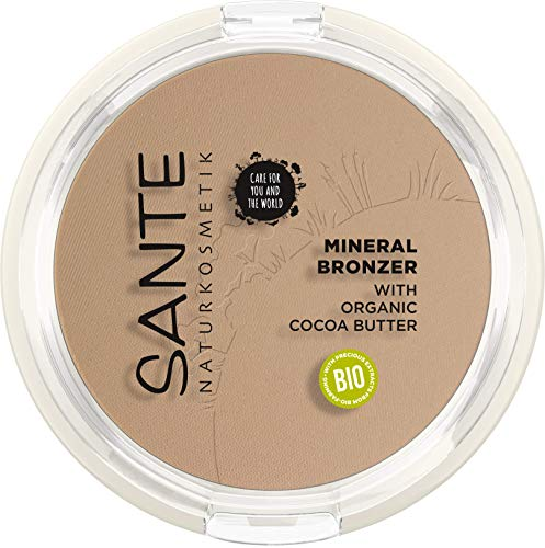 SANTE Naturkosmetik Mineral Bronzer, Contouring & Bronzer Powder, lichtreflektierende Pigmente für den perfekten Glow, mit wertvollen Bio-Extrakten, Natural, Vegan, 9g
