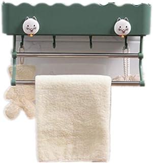 浴室用ラック, シャワーラック お風呂 コーナーラック 収納ラック 壁掛け,洗面所ラック ボトルラック バスラック シャワーラックバスルーム、キッチン、玄関、全適応 愛する S.D.I (グリーン)