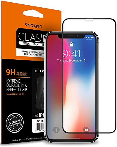 Spigen, Panzerglasfolie kompatibel mit iPhone 11 Pro, iPhone XS/X, Volle Abdeckung, 9H gehärtes Glas, Hüllenfreundlich, Face ID Kompatibel, Schutzfolie für iPhone 11 Pro (057GL22986)