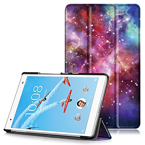 Lenovo Tab 4 8 Plus Case, Ultra Slim Lightweight Smart Shell Stand Cover with Auto Wake/Sleep Function for Lenovo Tab 4 8 Plus Tablet 2017 Release, Milky Way