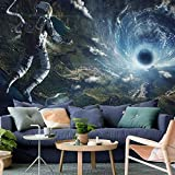 QCWN Space Tapestry Trippy Astronaut Tapestry Hippie Tornado Waves Tapestry Cool Spaceman Psychedelic Tapestry for Bedroom Mens Room Decor.59x51Inch