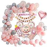 MMTX Babby Shower Dekorationen Mädchen, Babydusche Party Luftballons- Mama die Schärpe ist, Babyparty-Banner, Baby Folienballon für Mama zu Sein Gender Reveal Party