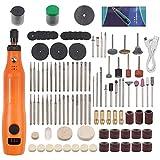 AUTOUTLET Mini Amoladora Eléctrica, 160PCS Kit de Herramientas de Grabado, Herramientas Rotatorias USB Recargable Multifunción para los DIY Trabajos de Cortar/Lijar/Pulir, Artesanías