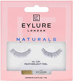 Eylure Fake Eyelashes, Naturals No. 031, Reusable, Adhesive Included, Tapered, 1 Pair