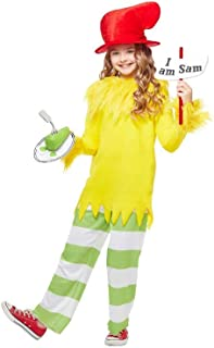 Dr. Seuss Green Eggs and Ham Sam I Am Kids Costume for Dr. Seuss's Birthday