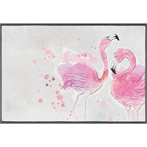 Wash+Dry Flamingo Tapis, Surface en Polyamide, Rose, 50 x 75 cm