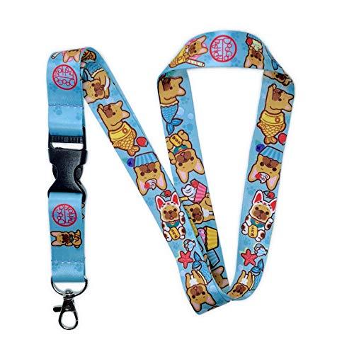 DOGGOFASHION French Bulldog Lanyard with Buckle Key Chain Id Badge Holders Office Name Tags