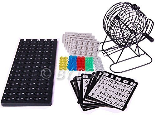 Global Gizmos Traditional Bingo Game 8 inch Cage BML50690