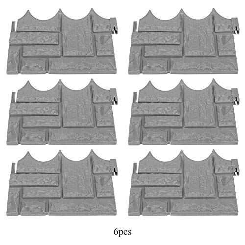 6 Stücke Garten Simulierte Ziegel Zement Zaun Steinform Beton Blume Hof Rasen Form Maker für Gartendekoration MEHRWEG VERPACKUNG socialme-eu