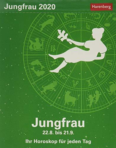 Jungfrau Sternzeichenkalender. Tischkalender 2020. Tageskalendarium. Blockkalender. Format 11 x 14 cm
