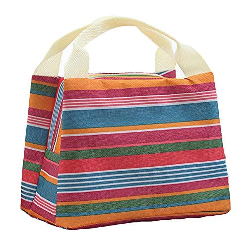 A Finebo Bo/îte /à Lunch Bag Sac Repas Lunch Bag Sac /à D/éjeuner Sac Fra/îcheur Portable Toile Isotherme Simple Tote