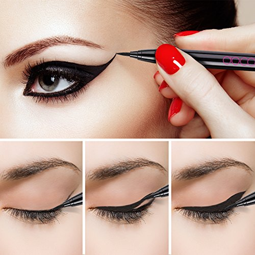 Docolor Waterproof Eyeliner Pen【update】Super Slim Precise All Day Black Professional Makeup Liquid Eye Liner Pencil for Women