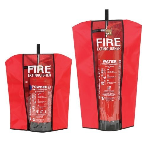 FIRE EXTINGUISHER COVER TO FIT 1,2,4,3,5,6,9 LTR KG WATER CO2 POWDER AFFF FOAM (SIZE 2) by FSSS Ltd