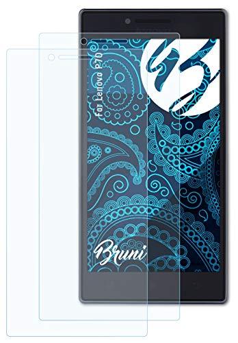 Bruni Schutzfolie kompatibel mit Lenovo P70 Folie, glasklare Bildschirmschutzfolie (2X)
