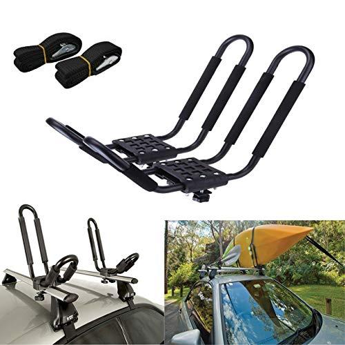 Azotea Carrier Kayak Rack, para Trabajo Pesado Plegable azotea del Coche Kayak Estante, Canoa Barco Universal del Marco de Equipaje Fácil de Instalar