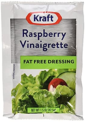 Kraft Raspberry Vinegrette Dressing, Fat Free, 1.5-Ounce Packages (Pack of 60)