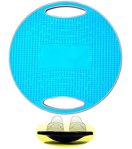 Balance Board Erwachsene, Therapiekreisel Physiotherapie Wackelbrett Board mit Griff, Rutschfeste TPE Bump Oberfläche, Durchmesser 41.5cm für das Training von Gleichgewicht, Koordination und Kraft